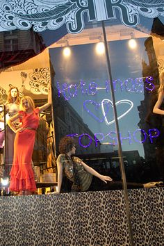 Window display   Topshop / Kate Moss collection   London