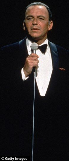 """Singing legend: Sinatra on stage in the late 1960s. Known as """"The Voice & Chairman of the Board"""""""