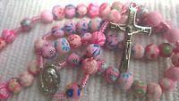 MEDJUGORJE Rosary Catholic pink rosaries from Medjugorje