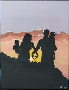 Silhouette 1/4. Acrylique sur toile. 27x35 cm. 40 euros. disponible