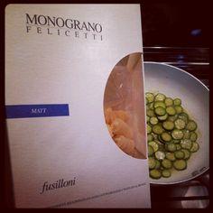 I fusilloni sì sposano bene con le zucchinine #pasta #foodlover #monograno #Felicetti #androidfood #instandroid » @robji_m » Instagram Profile » Followgram