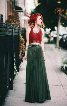 Don't like the top, love the hair and the cut of the skirt