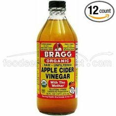 Bragg Organic Vinegar Apple Cider. Promotes digestion, helps with skin problems. A natural cure for constipation with plenty of minerals and potassium which has been proven to slow down the aging of the skin. Only $3.79