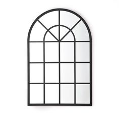 Bring a touch of industrial style into your home with this on-trend window mirror, designed like an old-fashioned arched window.Features Balance on. Arched Window Mirror, Hallway Mirror, Arch Mirror, Arched Windows, Industrial Mirrors, Industrial Style, Farmhouse Bathroom Mirrors, Landing Decor, Mirror Shop