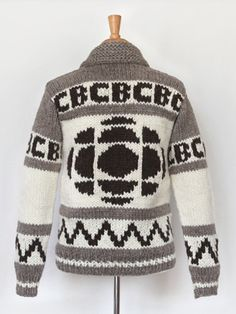 Official CBC Heritage sweater - Cowichan-style - more needness than nerdness ; Gem Logo, Hand Knitting, Knitting Patterns, I Am Canadian, Canadian Things, Cowichan Sweater, Hand Knitted Sweaters, Crochet Yarn, So Little Time
