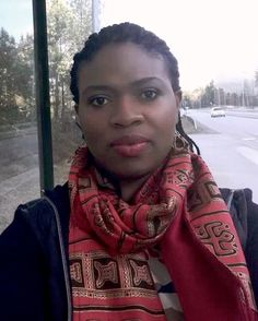 Our beautiful client Joana in Sweden stunning in our Apirede scarf.  Rose red black and a little gold sparkle. Beautiful!  It's so amazing to see Nana Yaw Designs spreading globally. Available at http://nanayawdesigns.com/