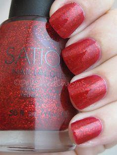 Polished Cousins: Sation- Gumdrop Glitter Red