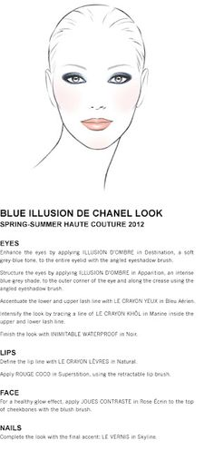 BLUE ILLUSION DE CHANEL LOOK  SPRING-SUMMER HAUTE COUTURE 2012
