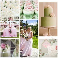mariage vert et rose