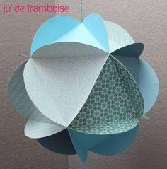 TuTo : Un mobile de globes de papier - Ju2Framboise