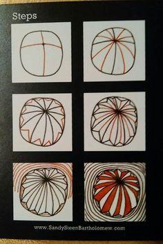 Zentangle® Pattern G on Pinterest | Tangle Patterns, Zentangle and ...