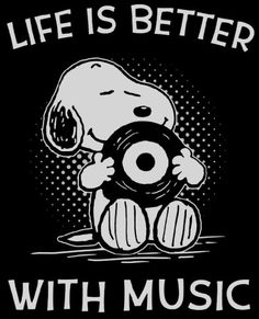 Snoopy knows! Life is better with music. Peanuts Cartoon, Peanuts Snoopy, Music Lyrics, Music Quotes, Music Sayings, Charlie Brown Y Snoopy, Snoopy Quotes, Snoopy And Woodstock, Music Stuff