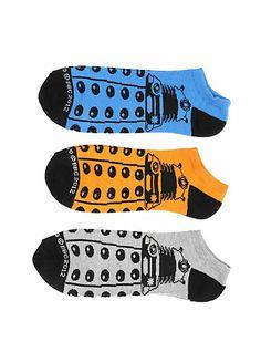 Doctor Who Dalek No-Show Socks 3 Pair | Hot Topic