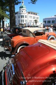 Visions of 1938 ; cars at the Napier art deco weekend 2012. Photo: Matthew Wright