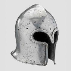 Barbute, Italy., ca. 1450/70 Medieval Helmets, Medieval Armor, Medieval Fantasy, Knight In Shining Armor, Knight Armor, Fall Of Constantinople, Knights Helmet, Arm Armor, 15th Century