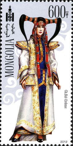Mongolia Stamp - Modern National Costume for Maggie Mongolia, Postage Stamp Design, Going Postal, Love Stamps, Vintage Stamps, Mail Art, Stamp Collecting, My Stamp, Decoupage