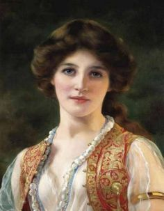 An Eastern Beauty. William Clarke Wontner (British, 1857-1930). Oil on canvas. From 1879, Wontner exhibited at the Royal Academy.