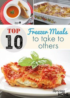 After years of freezer meal cooking and taking meals to others in need, I've found that these 10 recipes work the best to