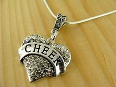 CHEER RHINESTONE SILVER HEART WITH .925 NECKLACE