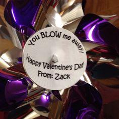 Zack's Pinwheel valentines for his class!