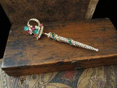 Ciner Sword Pin with Rhinestones and Cabochons at Tons of Treasures in Laguna Niguel