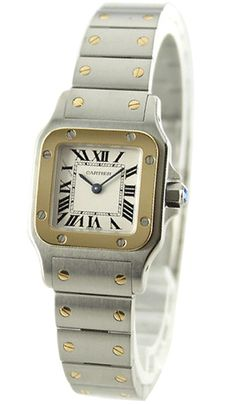 Buy now #Cartier W20012C4 Santos de Cartier Women's 18k Gold & Steel Watch http://watchwarehouse.com/cartier-w20012c4-santos-de-cartier-womens-18k-gold-steel-watch/ #CartierWatchSale #CartierWomensWatches