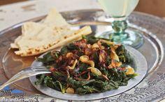 Mallow salad (Khobbeizeh bel-zeyt)