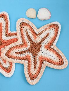 Starfish Dishcloth - Free Crochet Pattern - (yarnspirations)