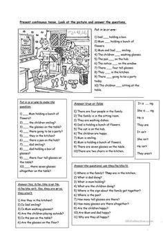 Grammar: Present continuous (progressive) tense; Teaching English Grammar, Grammar Book, Grammar Lessons, English Vocabulary, English Resources, English Activities, Education English, English Lessons, Simple Past Tense Worksheet