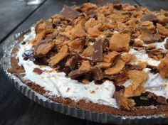 Butterfinger Pie. This must be a hit! Has been pinned almost 67,000 times!