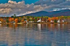 Quant little Melvin Village, Melvin Bay in Tuftonboro, New Hampshire on Lake Winnipesaukee