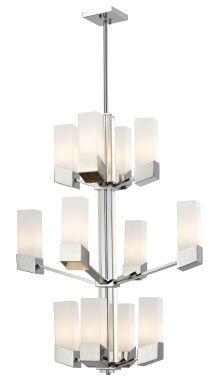 Zen 12 Light Chrome Chandelier - Z-Lite - 607-12 www.shopazteclighting.com/brand-z-lite