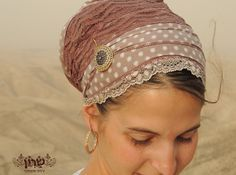 Antique pink tichel,Hair Snood, Head Scarf,Head Covering,jewish headcovering,Scarf,Bandana,apron