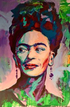 Frida Kahlo Portrait Acrylic on Canvas 120x80cm by Javier Peña Artespontaneo