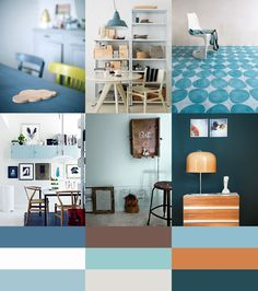 Color Palette Permanent Blue by kleurinspiratie.nl
