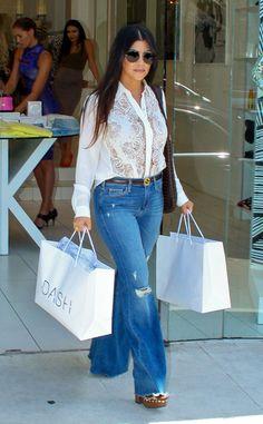 Kourtney Kardashian keeps it cute and casual leaving her Dash store!