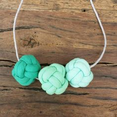 Ombre Nautical knot necklace by Livie Rose designs. #fabricjewelry