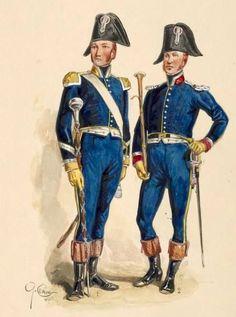 Tamburo maggiore e musicante del rgt. fanteria polacca