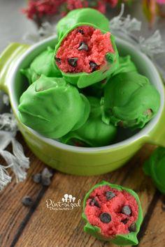 Watermelon Cake Balls - Powered by @ultimaterecipe