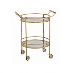 Glam Gold Bar Cart