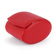 f33feb6e54 Travel Watch Case - Leather Watch Box - METEOR - Red-Carapaz Leather Watch  Box