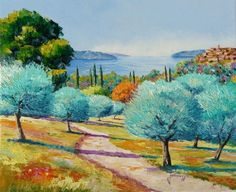 Mediterranean olive trees - Jean-Marc JANIACZYK, provencal painting