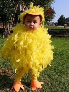 Gelbe Feder Baby-Küken-Halloween-Kostüm für Kleinkinder