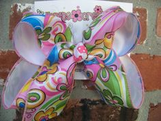 Large 2 Layer Pink Green Blue Groovy Flowers by karenscreations1, $8.98