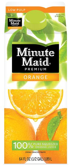 minute maid orange juice! Grandmas favorite.. She always let me drink the whole container. :)