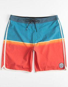 Gray Shark Summer Casual Breathable Cargo Shorts Swim Trunks Drawstring Striped Side Pockets