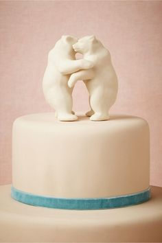 We lose sleep over it. We sleep better with it. It is (and should be) the furthest thing from a trend and yet it's the coolest, best, most fulfilling thing out there. LOVE. (Bear Hug Cake Topper from BHLDN)