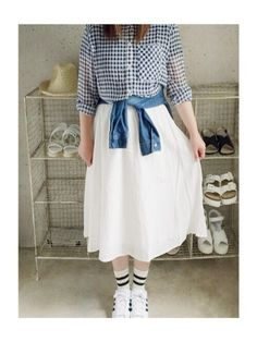 ナチュラル服のイタフラ  さんのスカート「italie to france フレアスカート」を使ったコーディネート