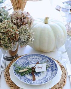 Blue and white autumn