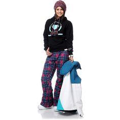 #DC Girls Fuse #Snow #jacket, #Burton Girls Society #plaid Snow #Pant, #Diamond Supply Co. #hoodie, Burton Girls Mimi #beanie (Snow outerwear lookbook- outfit #32) #zumiez Urban Fashion Women, Diamond Supply Co, Street Wear, Beanie, Plaid, Snow, Hoodies, Girls, Pants